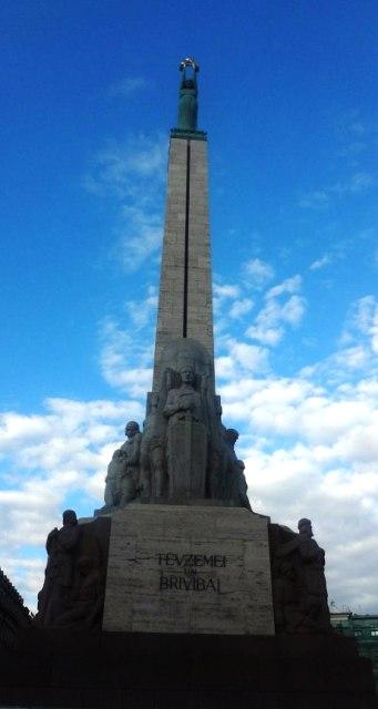 Поездка в Ригу. Памятник независимости Латвии