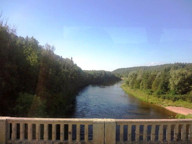 Латвия. Сигулда. Река Гауя