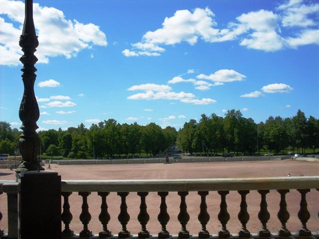 Большой Гатчинский дворец. Вид из окон