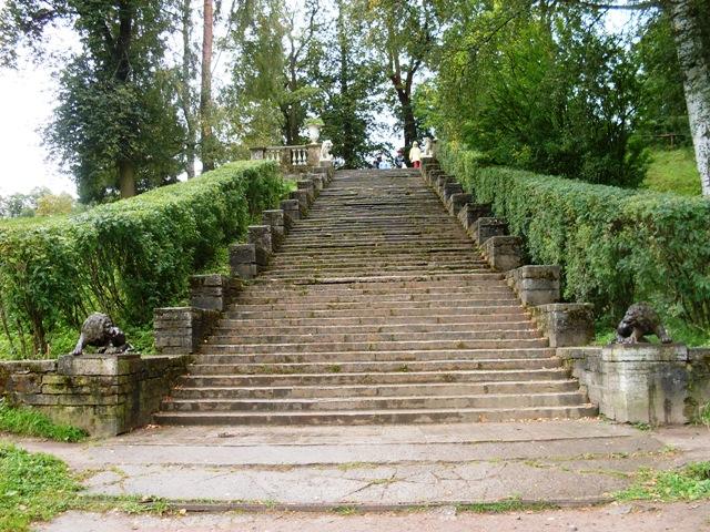 Павловский парк. Большая каменная лестница