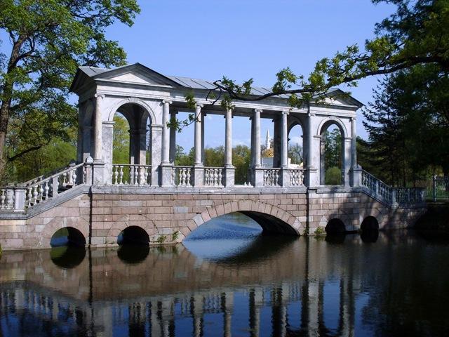 Екатерининский парк в Пушкине. Мраморный мост