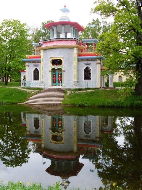 Екатерининский парк в Пушкине. Китайская беседка