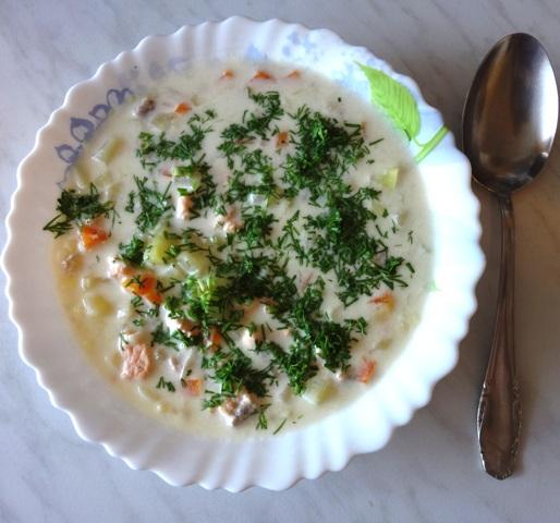 Лохикейтто. Финский рыбный суп со сливками