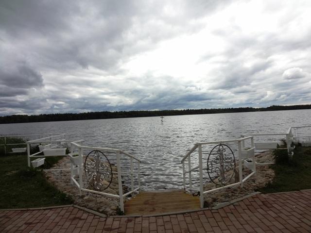 Дымское озеро.  Спуск