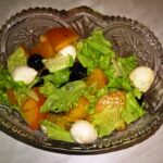 Салат из хурмы с оливками